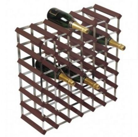 RTA 42 Bottle Assembled Stained Pine Wine Rack WNRK4109